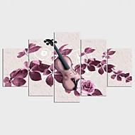 Gerdirilmiş Tuval Resmi Serbest Çiçek/Botanik Modern Klasik,Beş Panelli Kanvas Herhangi Şekli baskı Sanatı Duvar Dekor For Ev dekorasyonu