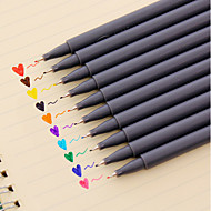 Gel Pen Kynä Veden väri kyniä Kynä,Muovi tynnyri Punainen Musta Sininen Keltainen Violetti Oranssi Vihreä Ink Colors For Koulutarvikkeet