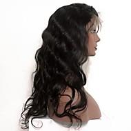 グルーレスレースのフロント赤ちゃんの髪と人間の髪のかつら8インチ -  24 ''ボディー波のかつらインディアンの毛のかつら黒の女性のためのレミーの髪