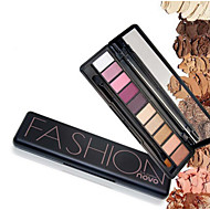 1Pc Shimmer Matte Natural Fashion Eye Shadow Make Up Light Eyeshadow Cosmetics Set With Brush 10 Colors Novo Eye Makeup Palette