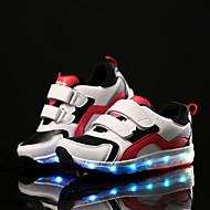 Jungen Sportschuhe Leuchtende LED-Schuhe Künstliche Mikrofaser Polyurethan Tüll Frühling Herbst Sportlich Normal KlettverschlussFlacher