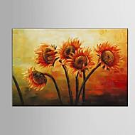 Peint à la main Nature morte A fleurs/Botanique Horizontale,Moderne Pastoral Un Panneau Toile Peinture à l'huile Hang-peint For