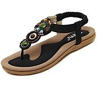 Women's Slippers & Flip-Flops Spring Summer Sandals Beaded Ladies Bohemia Woman Shoes Comfort Beach Summer Flat Sandals black