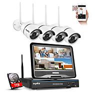 sannce®1TBと/屋外IRカットIPカメラで10.1液晶4chのHD 720pの無線のNVRの1500tvlを2.4G