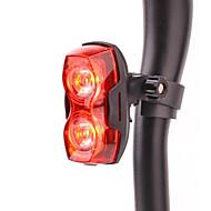3-mode 2-ledede rødt lys cykel førte burst blinkende baglygte (2 x AAA)