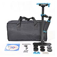 yelangu populære 60cm kulfiber kamera stabilisator s60t med blå farve support dslr universelle kameraer