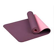 TPE Yoga Mats Eco Friendly Libre de Olores 6 mm Rosa Amarillo Naranja Morado Azul cielo Other