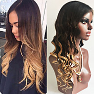 130% Density Brazilian Virgin Hair Lace Front Wigs Loose Wave Hair Two Tone Ombre T1B/27# Color Virgin Human Hair Lace Wigs For Fashion Woman