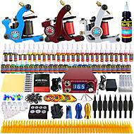 solong tetoválás teljes kezdő tetováló szett 3 pro gépek 54 festékek tápegység tű markolatok tippeket tkc02