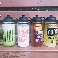 Transparent Sport Gehen Outdoor Trinkbecher, 1000 ml Transportabel Glas Polypropylen Saft Wasser Wasserflaschen