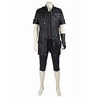 Inspired by Final Fantasy Noctis Lucis Caelum Video Game Cosplay Costumes Cosplay Halloween Suits Cosplay Tops/Bottoms Solid BlackCoat Top Hakama