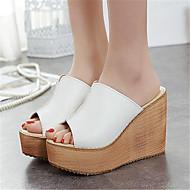 Sandály-PU-Jiné-Dámské-Růžová Bílá-Outdoor Běžné-Klín