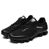 גברים-נעלי אתלטיקה-טול-נוחות-שחור אדום-שטח ספורט יומיומי-עקב נמוך