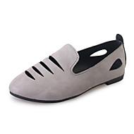 Dame-Tekstil-Flat hæl-Komfort-Flate sko-Friluft Kontor og arbeid Fritid-Svart Grønn Grå