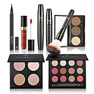 Sombra para Olhos Rímel Lápis de Olho Sobrancelha+Gloss Labial+Pincéis de Maquiagem Olhos Rosto Lábios