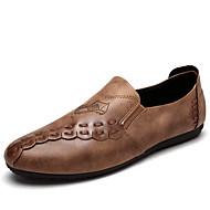 Kényelmes-Lapos-Női cipő-Lapos-Szabadidős Irodai Alkalmi-PU-Fekete Szürke Khaki