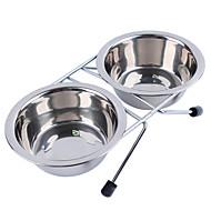 Katze Hund Schalen & Wasser Flaschen Haustiere Schüsseln & Füttern Wasserdicht Silber