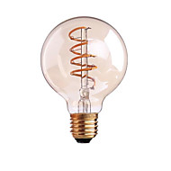 4W B22 E26/E27 フィラメントタイプLED電球 G80 1 COB 400 lm 温白色 明るさ調整 交流220から240 AC 110-130 V 1個
