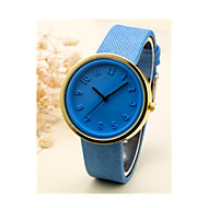 Men's Women's Sport Watch Quartz Leather Band Vintage Black Blue Pink