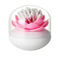 1pcs algodão lotus caixa de cotonete lotus cotonete sala de base do porta-decorar cor aleatória