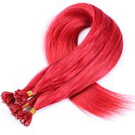 #red nova chegada u ponta extensões de cabelo humano cabelo virgem vermelha sem derramamento de cabelos lisos virgem brasileira