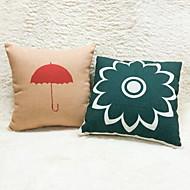 1 pçs Algodão/Linho Fronha,Floral Estampas Abstratas Moderno/Contemporâneo Regional Casual Tom/Decoração Ao ar Livre