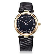 Women's Fashion Watch Swiss Quartz Calendar Water Resistant / Water Proof Quartz Genuine Leather Band Charm Casual Black