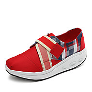 Women's Athletic Shoes Spring Summer Fall Winter Creepers Light Soles Fabric Outdoor Office & Career Casual Wedge Heel Buckle Walking