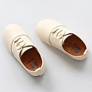 Rasos-Menina Flor Shoes-Salto Baixo-Preto Marrom Branco-Couro Envernizado-Ar-Livre Social Casual