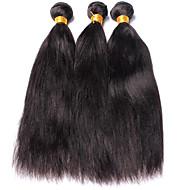 Cabelo Humano Ondulado Cabelo Peruviano Yaki 12 meses 3 Peças tece cabelo