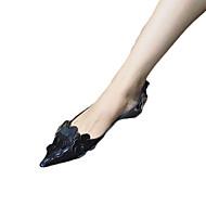 Flache Schuhe-Lässig-PU-Flacher Absatz-Komfort-Schwarz Rosa Grau