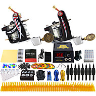 Solong Tattoo Complete Tattoo Kit 2 Pro Machines 54 Inks Power Supply Foot Pedal Needles Grips Tips TK227