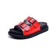 sandalias de gladiador de cuero sintético verano alineada al aire libre talón de cuña del dedo del pie ocasional pie metálico