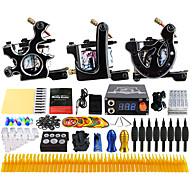 Solong Tattoo Complete Tattoo Kit 3 Pro Machines 40 Inks Power Supply Foot Pedal Needles Grips Tips TK356