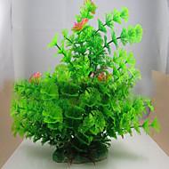 קישוט אקווריום צמח מים אינו רעיל וחסר טעם פלסטיק ירוק