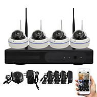 yanse® 1.0Mp kit NVR PNP de segurança visão ir noite 15led ip wi-fi sistema de câmera de CCTV