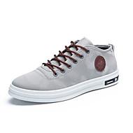 Herren Sneaker Vulkanisierte Schuhe Leinwand Frühling Sommer Normal Vulkanisierte Schuhe Schnürsenkel Schwarz Dunkelblau Grau Burgund