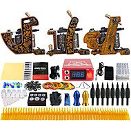 Solong Tattoo Complete Beginner Tattoo Kit 3 Pro Machine s 54 Inks Power Supply Needle Grips Tips TKC03