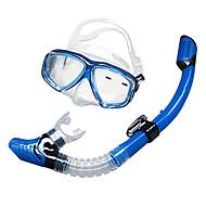 Snorkler Svømmebriller Snorkelsett Dykkermasker Snorkelpakker Tørrdrakt - topp Dykking og snorkling Glass Silikon Svart Gul Blå-SBART