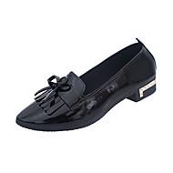 Dame Flate sko Komfort PU Vår Friluft Gange Lav hæl Hvit Svart Rosa Lysebrun Under 2,5 cm