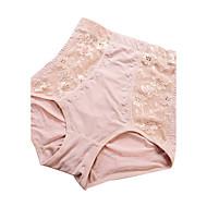 Women's Sexy Lace Slimming High Waist Body Tummy Control Shaping Panties Nylon Spandex Female Underwear Beige