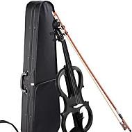 Electronic Violin Black String Musical Instrument Case
