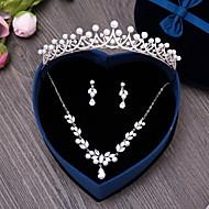 Bijuterii 1 Colier 1 Pereche de Cercei Bijuterii de Păr Imitație de Perle Zirconiu Cubic Nuntă Petrecere Zilnic Imitație de Perle Zirconiu