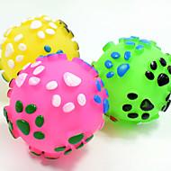Katteleke Hundeleke Leker til kjæledyr Ball Bide Leker Interaktivt TannrenselekeKnirker Holdbar Elastisk Hund Fotavtrykk Nobbly Wobbly