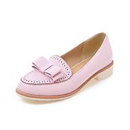 Kényelmes-Alacsony Vastag-Női cipő-Papucsok & Balerinacipők-Irodai Ruha Alkalmi-PU-Fekete Rózsaszín Fehér