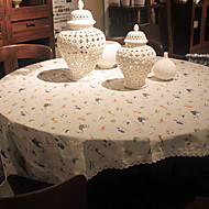 Rond Impression Animal Toile Nappes de table , Mélange Lin/Coton Matériel Tableau Dceoration 1/set