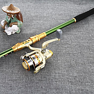 Fishing Rod Telespin Rod FRP 270 M General Fishing Rod & Reel Combos Green