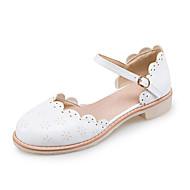 Dame-PU-Lav hælFlate sko-Kontor og arbeid Formell Fest/aften-Hvit Beige Rosa