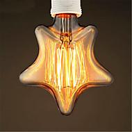 220-240 e27 40w звезда желтый свет украшения ретро вольфрама пузырь