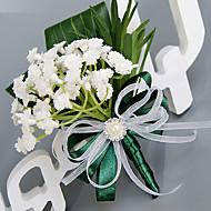 פרחי חתונה עגול ורדים לבנדר פרחי דש חתונה חתונה/ אירוע פוליאסטר סאטן משי אורגנזה
